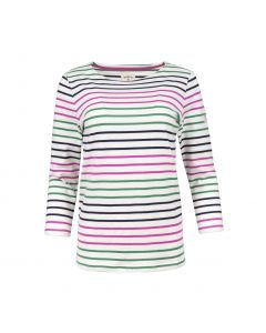 TOP STRIPE 3 COLOR, RICH ROSE