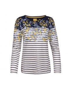 TOP STRIPE / FLOWER , GOLD