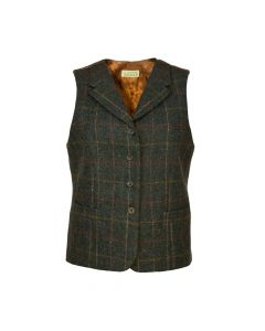 GILET CHECK HAZEL, NAVY