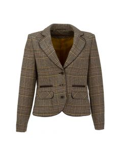 JACKET HOUNDSTOOTH, BROWN