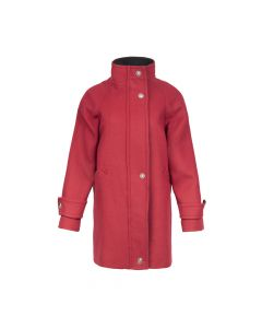 COAT CONTRAST COLLAR, RED