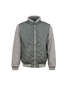MENS CARDI QUILTED, CAMEL