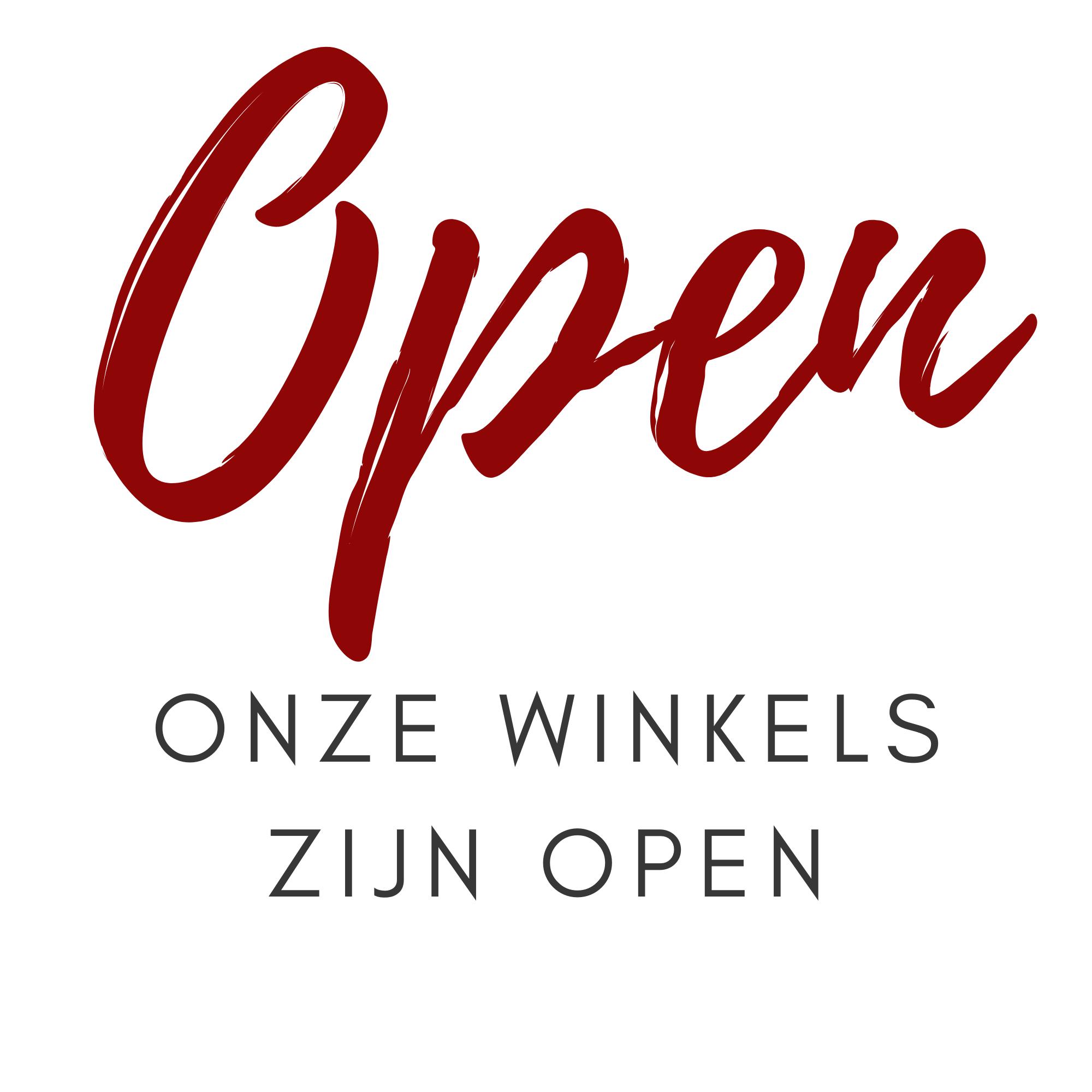 Onze winkels zijn open
