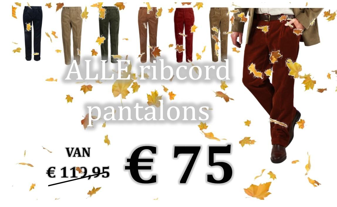 ALLE ribcord PANTALONS nu € 75